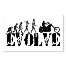 Motorcycle Rider Rectangle Decal