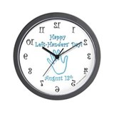 Left Handers' Day Wall Clock