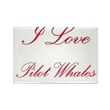 I Love Pilot Whales Rectangle Magnet (10 pack)