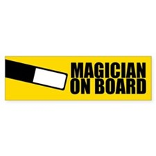 Magician On Board Bumper Sticker, Wand