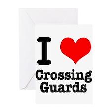 I Heart (Love) Crossing Guard Greeting Card
