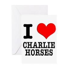 I Heart (Love) Charlie Horses Greeting Card