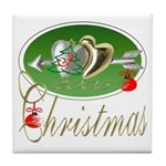 I Love Christmas Tile Coaster