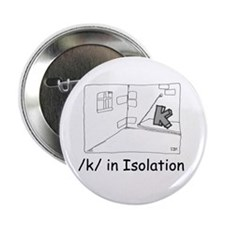 "K in isolation 2.25"" Button (10 pack)"