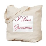 I Love Opossums Tote Bag