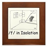 F in isolation Framed Tile