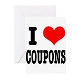 I Heart (Love) Coupons Greeting Cards (Pk of 20)