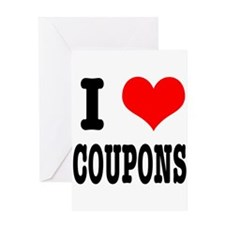 I Heart (Love) Coupons Greeting Card