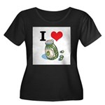 I Heart (Love) Green Olives Women's Plus Size Scoo