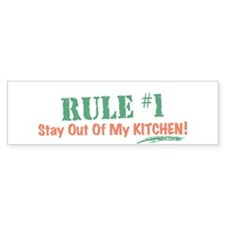 Kitchen Cook Rules Bumper Sticker