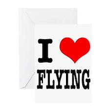 I Heart (Love) Flying Greeting Card