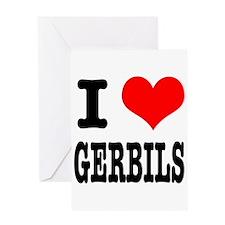 I Heart (Love) Gerbils Greeting Card
