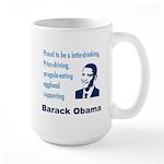Obama supporter stereotypes Large Mug