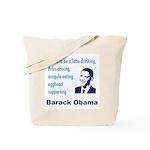 Obama supporter stereotypes Tote Bag