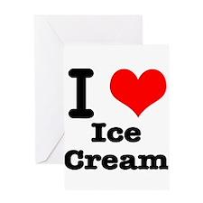 I Heart (Love) Ice Cream Greeting Card