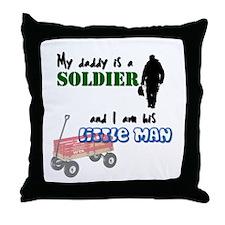 Daddy's Little Man Throw Pillow