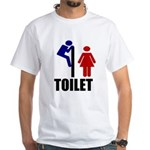 Toilet Peek White T-Shirt