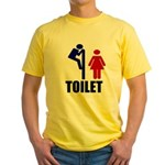 Toilet Peek Yellow T-Shirt