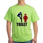 Toilet Peek Green T-Shirt