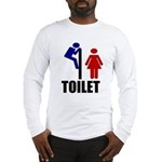Toilet Peek Long Sleeve T-Shirt