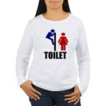 Toilet Peek Women's Long Sleeve T-Shirt