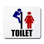 Toilet Peek Mousepad