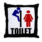 Toilet Peek Throw Pillow