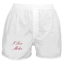 I Love Moles Boxer Shorts