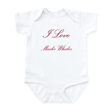 I Love Minke Whales Infant Bodysuit