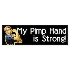 Rosie the Riveter's Pimp Hand Bumper Bumper Sticker