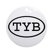 TYB Oval Ornament (Round)
