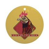 Big Red Country Rooster Ornament (Round)