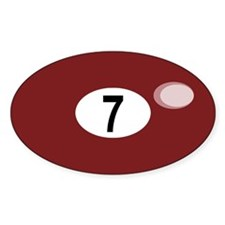 BILLIARD BALL 7 Oval Decal