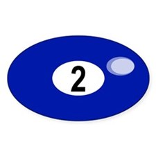 BILLIARD BALL 2 Oval Decal