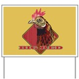 Big Red Country Rooster Yard Sign