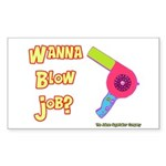 Hairdresser Blow Job Rectangle Sticker