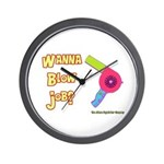 Hairdresser Blow Job Wall Clock