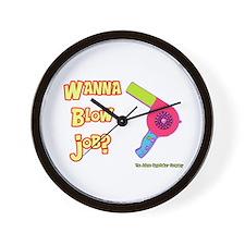 Hairdresser Blow Job Wall Clock