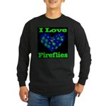 I Love Fireflies Framed Long Sleeve Dark T-Shirt