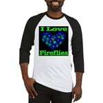 I Love Fireflies Baseball Jersey