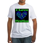 I Love Fireflies Fitted T-Shirt