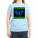 I Love Fireflies Women's Light T-Shirt