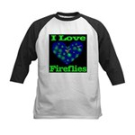 I Love Fireflies Kids Baseball Jersey