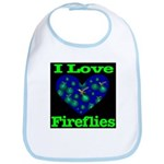 I Love Fireflies Bib