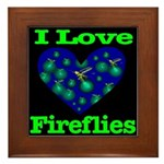I Love Fireflies Framed Tile