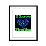 I Love Fireflies Framed Panel Print
