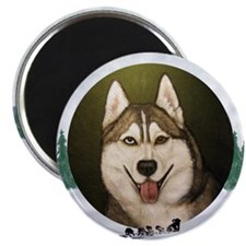 Siberian Husky & dog team Magnet