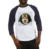 Siberian Husky & dog team Baseball Jersey