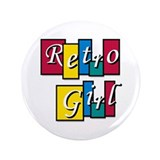 "Riyah-Li Designs Retro Girl 3.5"" Button"