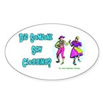 Clogging Clogger Oval Sticker